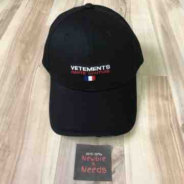 Vetements Haute Couture Cap Black
