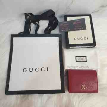 Gucci Red Leather Case Wallet