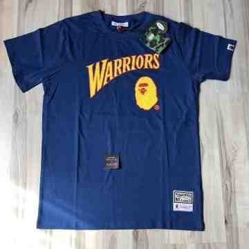 Bape x Mitchell & Ness Warriors Tee