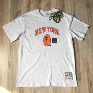 Bape x Mitchell & Ness New York Tee