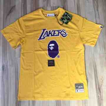 Bape x Mitchell & Ness Lakers Yellow Tee