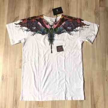 Marcelo Burlon Alas Aqua Colour Water Wing White Tee