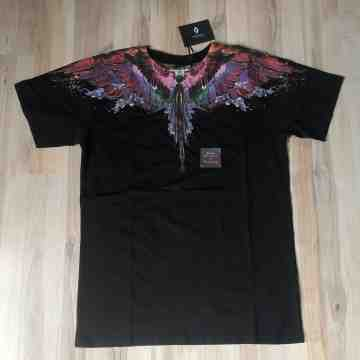Marcelo Burlon Alas Aqua Colour Water Wing Black Tee
