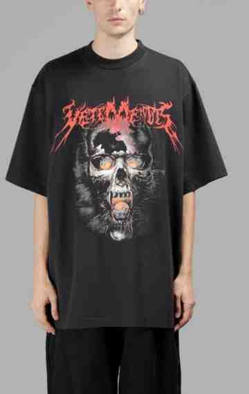 Vetements Official Fake Heavy Metal Tee