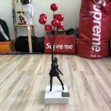 Banksy Balloon Girl Figure