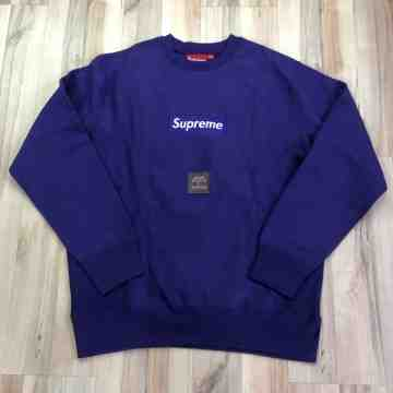 Supreme Purple Box Logo Crewneck