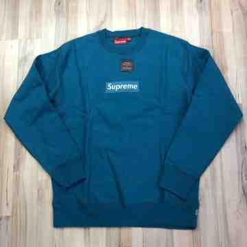 Supreme Teal Box Logo Crewneck (Year 2006)