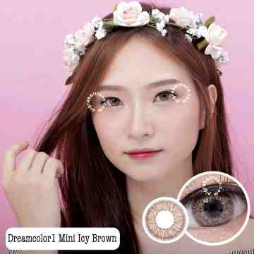 Dreamcolor1 Mini Icy Brown Softlens