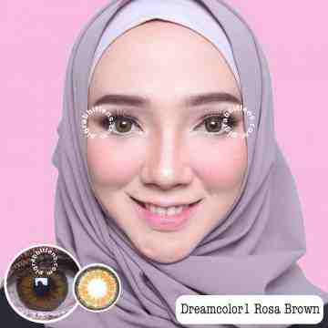 Dreamcolor1 Rosa Brown Softlens