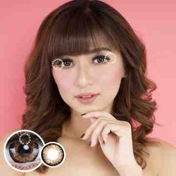 EOS V Check Brown Softlens