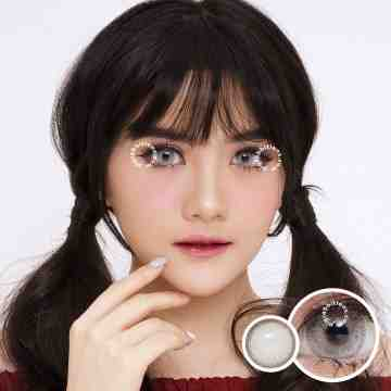 Kitty Kawaii Cottage Grey Softlens