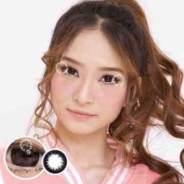 Kitty Kawaii Mini Circle Black Softlens