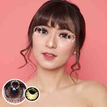 Pretty Doll Big Chimmer Brown Softlens