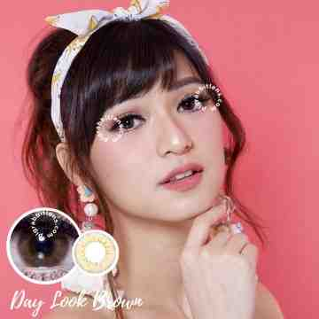 Kitty Kawaii Day Look Brown Softlens