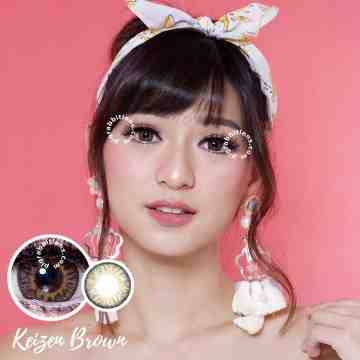 Kitty Kawaii Keizen Brown Softlens