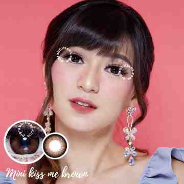 Kitty Kawaii Mini Kiss Me Brown Softlens