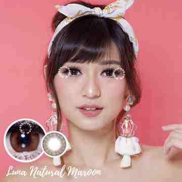 EOS Luna Natural Maroon Softlens