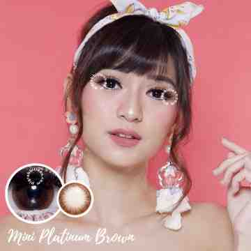 Kitty Kawaii Mini Platinum Brown Softlens