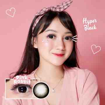 PINK RABBIT Hyperblack softlens