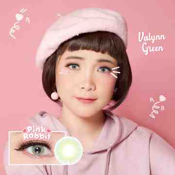 Pink Rabbit Valynn Green Softlens
