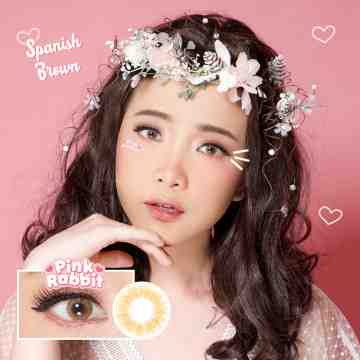 Pink Rabbit Spanish Brown Softlens