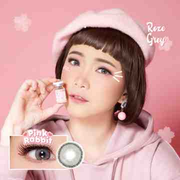 Pink Rabbit Roze Grey Softlens