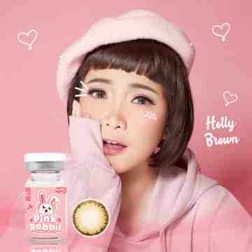 Pink Rabbit Holly Brown Softlens