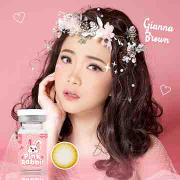Pink Rabbit Gianna Brown Softlens