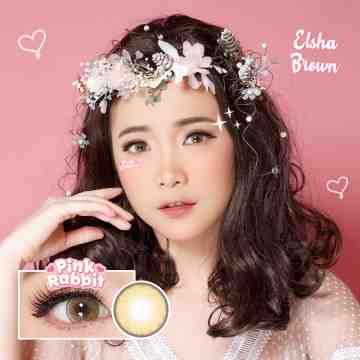 Pink Rabbit Elsha Brown Softlens