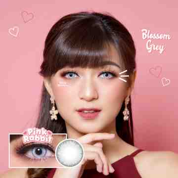Pink Rabbit Blossom Grey Softlens