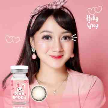 Pink Rabbit Holly Grey Softlens