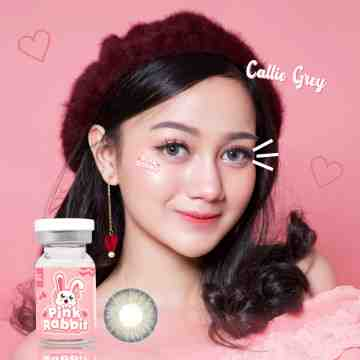 Pink Rabbit Callie Grey Softlens