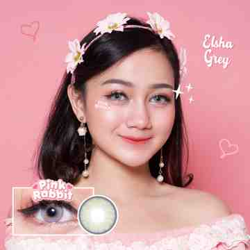 Pink Rabbit Elsha Grey Softlens