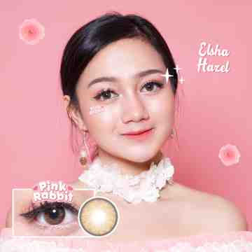 Pink Rabbit Elsha Hazel Softlens
