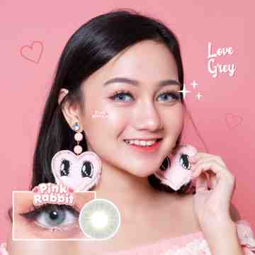 Pink Rabbit Love Grey Softlens