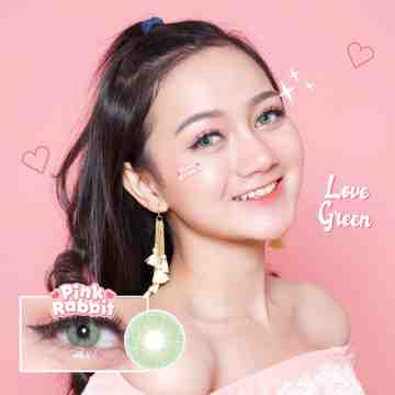 Pink Rabbit Love Green Softlens