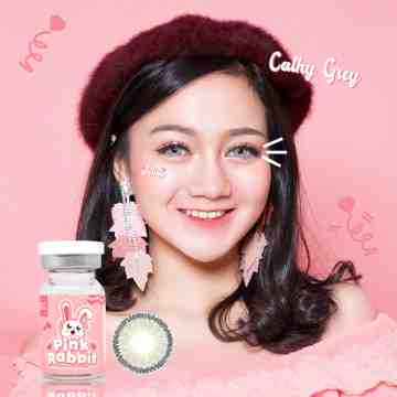 Pink Rabbit Cathy Grey Softlens