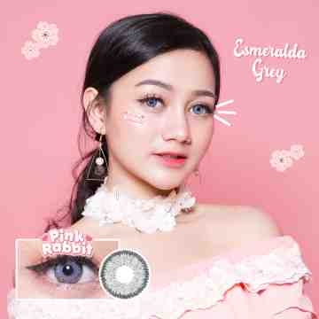 Pink Rabbit Esmeralda Grey Softlens