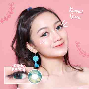 Pink Rabbit Kawaii Green Softlens