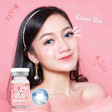 Pink Rabbit Kawaii Blue Softlens