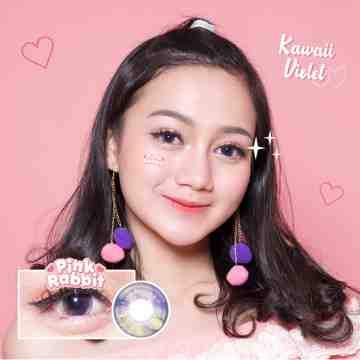 Pink Rabbit Kawaii Violet Softlens