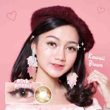 Pink Rabbit Kawaii Brown Softlens