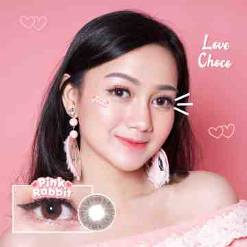 Pink Rabbit Love Choco Softlens