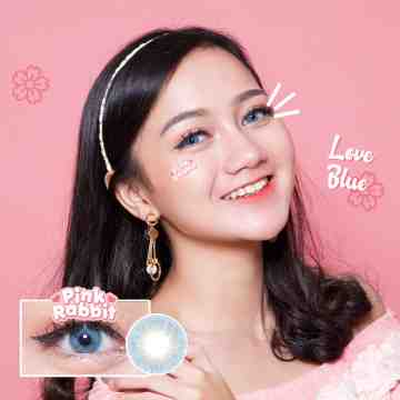 Pink Rabbit Love Blue Softlens