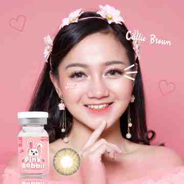 Pink Rabbit Callie Brown Softlens