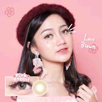 Pink Rabbit Love Brown Softlens