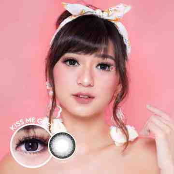 Kitty Kawaii Kiss Me Grey Softlens