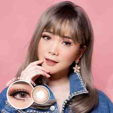 Kitty Kawaii Mini Jet Aime Brown Softlens