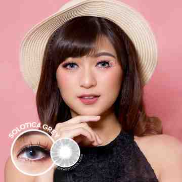 Kitty Kawaii Solotica Grey Softlens