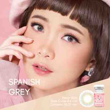 Pink Rabbit Spanish Grey Softlens